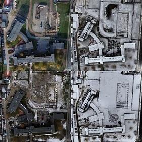 Porównanie zmian terenu na czterech ortofotomapach tego samego miejsca